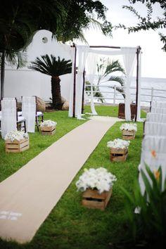 style me pretty - real wedding - puerto vallarta wedding - ceremony decor - bamboo chuppah
