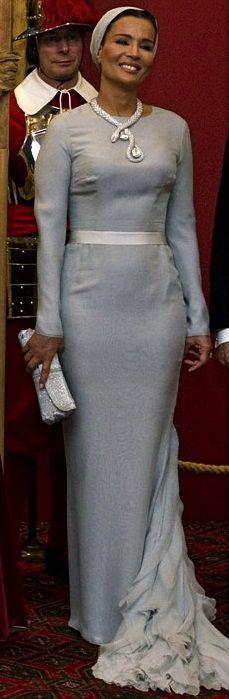 The always elegant Queen of Qatar, Sheikha Mozah