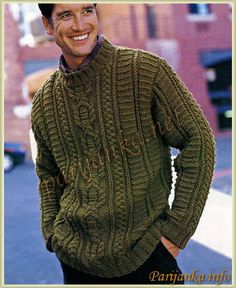 ИРЛАНДСКИЙ ПУЛОВЕР  365* 2002/2003 ( Бержер ) Sweater Hat, Cable Sweater, Knitting Designs, Knit Patterns, Pulls, Mens Tops, Clothes, Men's Knitwear, Free Pattern
