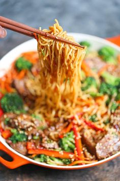 Garlic Sesame Noodles - Easy peasy take-out style sesame noodles for those busy weeknights! It's a simple, quick 30-min meal the whole family will LOVE!