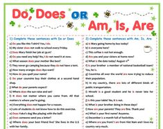 Do Does Or Am Is Are Practice Sheet P1 English Teaching Resources Worksheets Verb