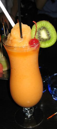 mango daiquiri | in blender put 1 ripe mango, juice from 2 limes, little bit of sugar syrup, white rum, ice. enjoy!