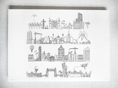 Rotje Skyline Print by MaryandtheLocks on Etsy