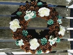 Unique Pine Cone Wreaths at great prices.  :) www.etsy.com/shop/NaturesCraftSupply