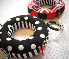 Free baby tag ring sewing pattern