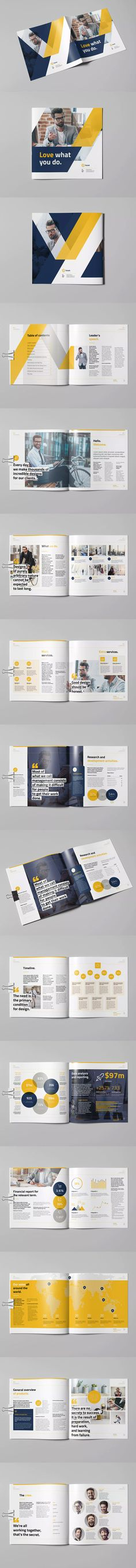 James Austin  Square Brochure Template InDesign INDD