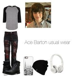 """""""Ace Barton usual wear"""" by carrollgabriel on Polyvore featuring River Island, Timberland, Casetify, Hurley, Beats by Dr. Dre, men's fashion and menswear"""
