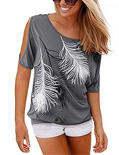 YJWAN Women Summer Casual Top Feather Print Off Shoulder ... https://www.amazon.ca/dp/B06XYS8PPV/ref=cm_sw_r_pi_dp_x_wrdAzbSWZGT5P