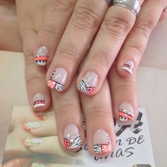 Uñas Nail Art Noel, Saris, Finger, Manicure, Nail Designs, Beauty, Work Nails, Ideas, Fingernails Painted
