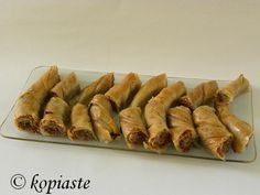 Tsipopita with Almonds – Mint, Cinnamon & Blossom Water Greek Recipes, New Recipes, Cyprus Food, Greek Sweets, Asparagus, Sushi, Bacon, Almonds, Butter