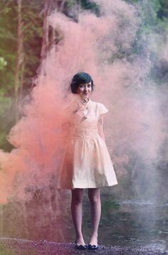 smoke bomb photography - Google Search Smoke Bomb Photography, Mirror Photography, Winter Photography, Life Photography, Smoke Painting, Rauch Fotografie, Smoke Cloud, Photoshoot Concept, Fox Girl