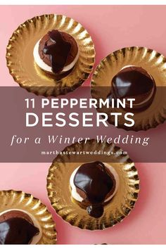 11 Peppermint Desserts for a Winter Wedding | Martha Stewart Weddings - 'Tis the season for knee socks, sweater dresses, and peppermint-flavored everything. Incorporate the season's favorite flavor into your winter wedding or engagement party! Here, our most minty desserts to serve to your guests.