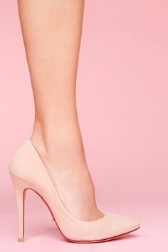 Nude pumps to go with just about anything.