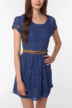 Cute blue lace dress. urban outfitters