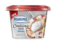 Kraft First Taste: Philadelphia Cooking Creme Kraft Recipes, New Recipes, Cooking Recipes, Favorite Recipes, Kraft Heinz, Prosciutto Pizza, Cooking Herbs, Cooking Cream, Mint Brownies