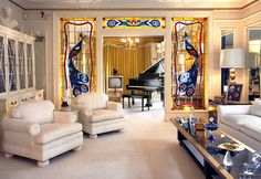 Graceland! This was one of my favorite rooms on the tour! It was so awesome to see where the King lived!