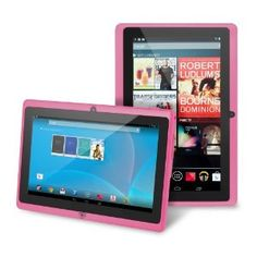 "Was $199.99, Now $59.99 plus free shipping. Chromo Inc.® 7"" -Tablet PC Android 4.1.3 Capacitive 5 Point Multi-Touch Screen - Pink"