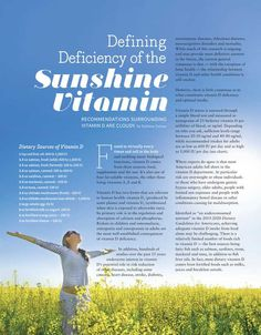 Vitamin D Summary. Food & Nutrition Magazine - May/June 2016 - Page 18-19