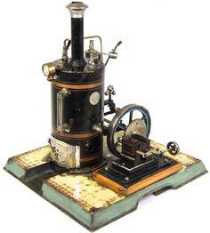 Märklin Stehende Dampfmaschinen Stehende Dampfmaschine; stahlblau lac