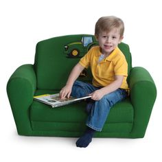 John Deere Green Kids Sleepover Chair   Carters Room