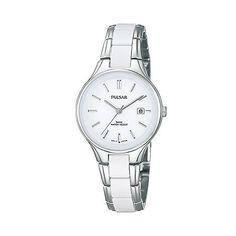 Pulsar Ladies stainless steel white dial watch ph7267x1 | Debenhams