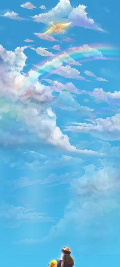 Tags: Pokémon, Nintendo, Pikachu, Satoshi (Pokémon), Ho-oh, GAME FREAK, Yuki (Popopo)
