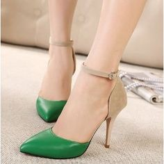OnlyUrs Fashion Cusp Toe Women Pure Color High-Heeled Shoes