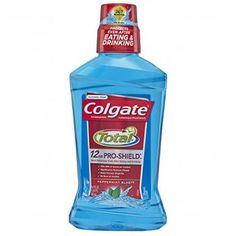 Colgate Total Pro-Shield Mouthwash, Peppermint - 500 mL Pack) protection against germs even after eating and drinking Kills of germs Significantly reduces plaque Helps prevent gingivitis No burn of alcohol Best Mouthwash, Listerine Cool Mint, Gum Health, Bad Breath, Fresh Mint, Alcohol Free, Peppermint, Cleaning, Finance