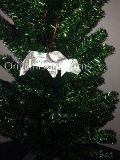 Money Origami BULL Christmas Tree Ornament