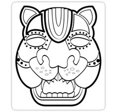 mayan jaguar mask by deanozoff
