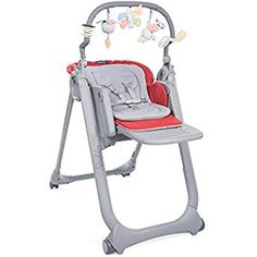 Chicco Chaise Haute Bebe Polly Magic Relax 4 Roues Scarlet