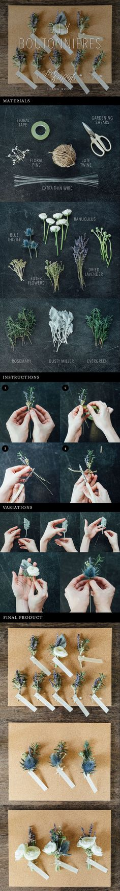 Easy DIY Boutonniere Tutorial