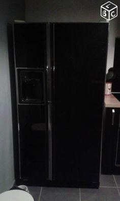 les 25 meilleures id es de la cat gorie frigo americain noir sur pinterest. Black Bedroom Furniture Sets. Home Design Ideas