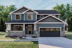 Grey Exterior, House Paint Exterior, Craftsman Exterior Colors, Best House Colors Exterior, Exterior Paint Colors For House With Stone, Gray Exterior Houses, House Ideas Exterior, Exterior House Colors Combinations, Exterior Siding Options