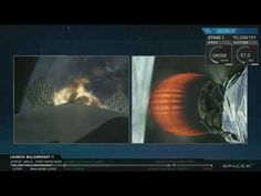 SpaceX Re Launch Falcon 9 with BulgariaSat 1 from Kennedy Space Center