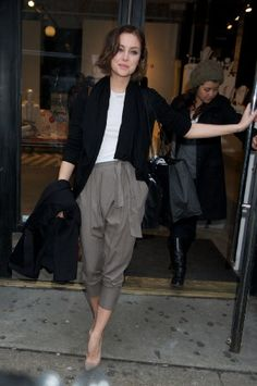 Jessica Stroup shopping at alice + olivia in New York City
