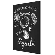 Tablou canvas - When life gives you lemons - Monkeez . Chalkboard Quotes, Art Quotes, Canvas, Life, Tela, Canvases