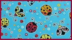 Käfer Blumen Kinderstoffe Marienkäfer groß  Baumwollstoff Patchwork  Dekostoff