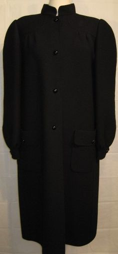 Vintage 1970s Andre Laug Black Wool Coat Size 12 by GoodBuyForNow on Etsy