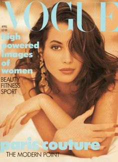 Vogue UK, April 1989  Photographer : Patrick Demarchelier  Model : Christy Turlington