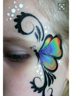 Beautiful butterfly with swirls face painting