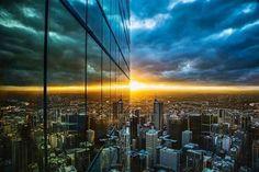 Melbourne Downtown sunset, Australia pic.twitter.com/FuEvxqBl78