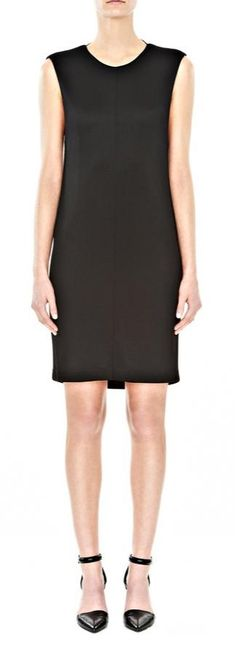 T by Alexander Wang double knit drape back dress in black. Size small at $215.00. Contact Serafina at info@shopserafina.com