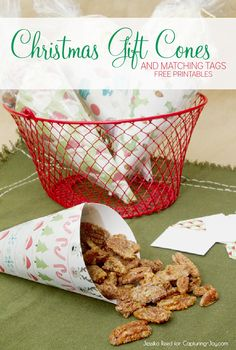 Christmas Gift Cones and Tags {Capturing Joy w/ Kristen Duke}