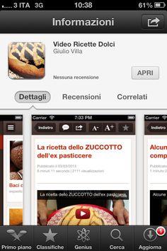 Video ricette dolci app