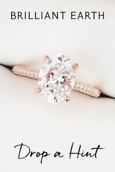 "Tell your special someone what's on your wish list. Click ""Drop a Hint"" on any item and we'll send them a hint (so you don't have to). Dream Engagement Rings, Engagement Ring Sizes, Engagement Ring Settings, Solitaire Engagement, Cute Rings, Unique Rings, Diamond Wedding Rings, Wedding Bands, Dream Ring"