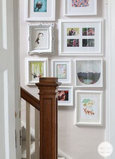Hallway Gallery Wall via Inspired by Charm #FindingFallHomeTour