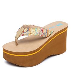 d6441b03ce9e5b Slippers with simple woman anti-slip platform sloping beach is cool