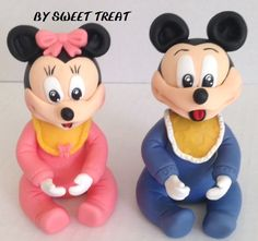 BABY MINI AND MICKEY MOUSE COLD PORCELAIN CAKE TOPPERS BUY SWEET TREAT  www.sweettreatusa.com