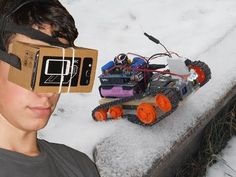 FPV Virtual Reality Arduino Controlled Tracked Robot